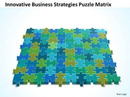 Business PowerPoint Templates innovative strategies Puzzle matrix Sales PPT Slides