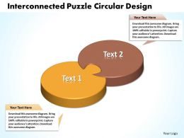 business powerpoint templates interconnceted puzzle circular design layouts sales ppt slides