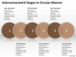 Business PowerPoint Templates interconnected 6 phase diagram ppt circular manner Sales Slides