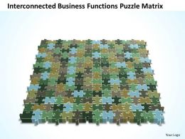 Business PowerPoint Templates interconnected functions Puzzle matrix Sales PPT Slides