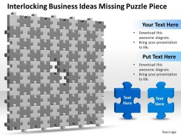Business PowerPoint Templates interlocking ideas missing puzzle piece Sales PPT Slides