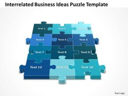 Business PowerPoint Templates interrelated ideas Problem Solving Puzzle Piece Sales PPT Slides