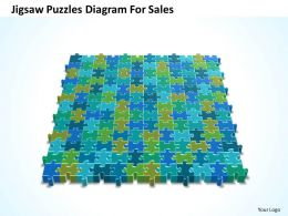 Business PowerPoint Templates jigsaw puzzles diagram for sales PPT Slides