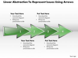 Business PowerPoint Templates linear abstraction to represent issues using arrows Sales PPT Slides