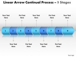 Business PowerPoint Templates linear arrow continual process 9 phase diagram ppt Sales Slides