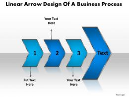 Business PowerPoint Templates linear arrow design of process Sales PPT Slides 3 stages