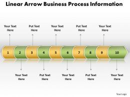 Business PowerPoint Templates linear arrow process information Sales PPT Slides