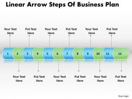 Business PowerPoint Templates linear arrow steps of plan Sales PPT Slides