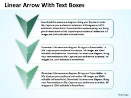 business_powerpoint_templates_linear_arrow_with_text_boxes_sales_ppt_slides_Slide01