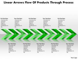 Business PowerPoint Templates linear arrows flow of products through process Sales PPT Slides