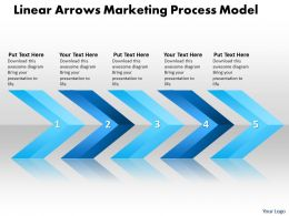 Business PowerPoint Templates Linear Arrows Marketing Process Model Sales Free PPT Slides