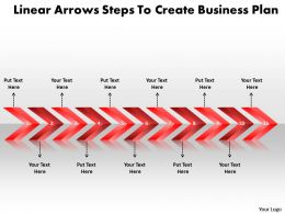 Business PowerPoint Templates linear arrows steps to create plan Sales PPT Slides