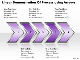 Business PowerPoint Templates linear demonstration of process using arrows Sales PPT Slides