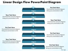 business_powerpoint_templates_linear_design_flow_diagram_k_sales_ppt_slides_Slide01