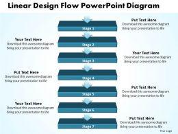 Business PowerPoint Templates linear design flow diagram k Sales PPT Slides