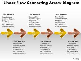 Business PowerPoint Templates linear flow connecting arrow diagram Sales PPT Slides 6 stages