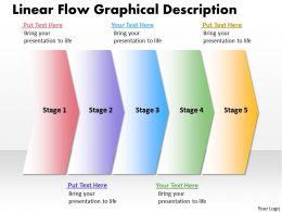 Business PowerPoint Templates linear flow graphical description Sales PPT Slides 5 stages