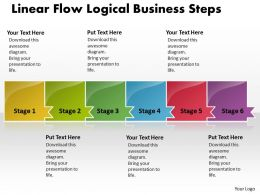 Business PowerPoint Templates linear flow logical create macro Sales PPT Slides 6 stages