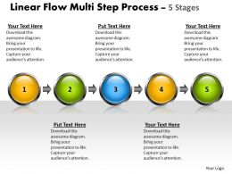 Business PowerPoint Templates linear flow multi step process 5 state diagram ppt Sales Slides