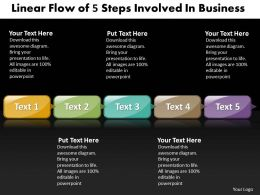 Business PowerPoint Templates linear flow of 5 steps involved Sales PPT Slides