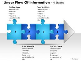 Business PowerPoint Templates linear flow of information 4 stage Sales PPT Slides