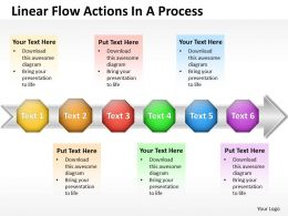 Business PowerPoint Templates linear flow ppt actions process Sales Slides