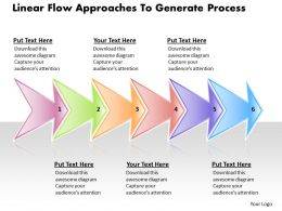 Business PowerPoint Templates linear flow ppt approaches to generate process Sales Slides