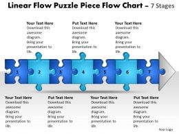 Business PowerPoint Templates linear flow puzzle piece chart Sales PPT Slides