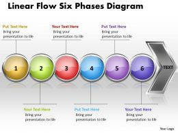 Business PowerPoint Templates linear flow six phases diagram free Sales PPT Slides 6 Stages