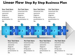 Business PowerPoint Templates linear flow step by plan Sales PPT Slides