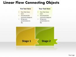 Business PowerPoint Templates linear flow theme connecting objects Sales PPT Slides 2 Stages