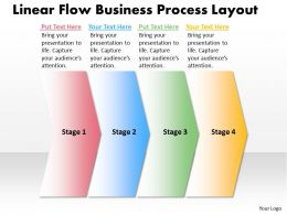 Business PowerPoint Templates linear flow theme process layout Sales PPT Slides 4 stages