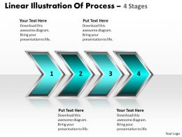 Business PowerPoint Templates linear illustration of process using 4 stages Sales PPT Slides
