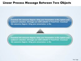 Business PowerPoint Templates linear process message between two objects Sales PPT Slides