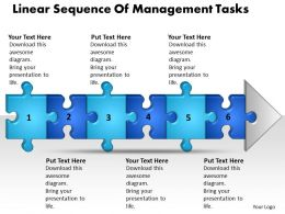 Business PowerPoint Templates linear sequence of management tasks Sales PPT Slides