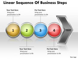 Business PowerPoint Templates linear sequence of steps Sales PPT Slides 4 stages