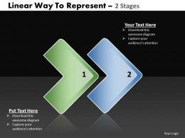 Business PowerPoint Templates linear way to represent 2 stage Sales PPT Slides