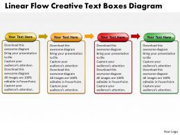 Business PowerPoint Templates liner flow creative text boxes diagram Sales PPT Slides