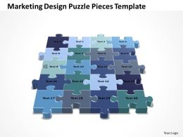 Business PowerPoint Templates marketing design Strategy Puzzle pieces Sales PPT Slides