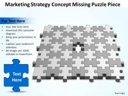 Business PowerPoint Templates marketing strategy concept missing puzzle piece Sales PPT Slides