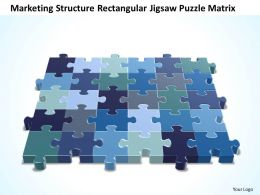 Business PowerPoint Templates marketing structure rectangular jigsaw Puzzle matrix Sales PPT Slides