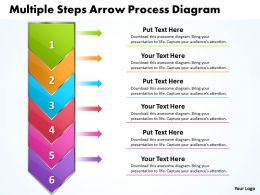 Business PowerPoint Templates mulitple steps arrow process diagram Sales PPT Slides 6 stages
