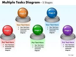 Business PowerPoint Templates multiple tasks diagram 5 stages layouts 0812 Sales PPT Slides