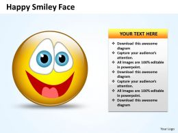 Business PowerPoint Templates naughty emoticon showing his tongue Sales PPT Slides