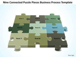 Business PowerPoint Templates nine connected Strategy Puzzle pieces circular Sales PPT Slides