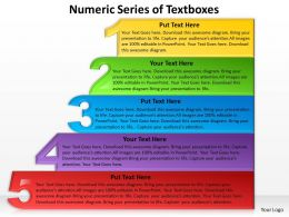 Business PowerPoint Templates numeric series of textboxes Sales PPT Slides