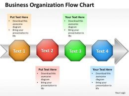 Business PowerPoint Templates organization flow chart Sales PPT Slides
