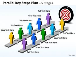 Business PowerPoint Templates parallel key steps plan Sales PPT Slides
