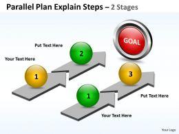 Business PowerPoint Templates parallel plan explain steps Sales PPT Slides