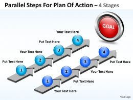 Business PowerPoint Templates parallel steps for plan of action Sales PPT Slides